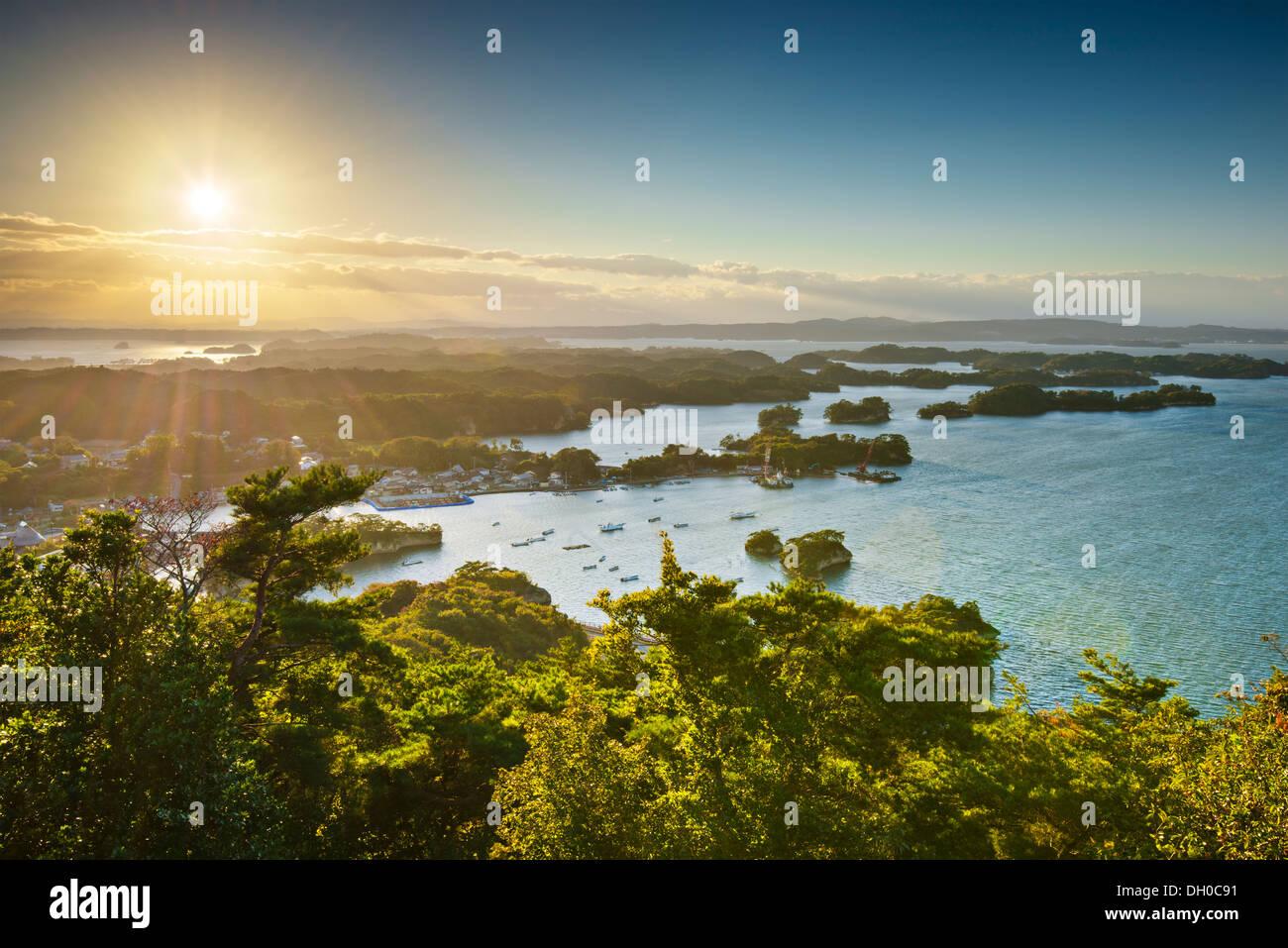 Côte de Matsushima, au Japon. Photo Stock