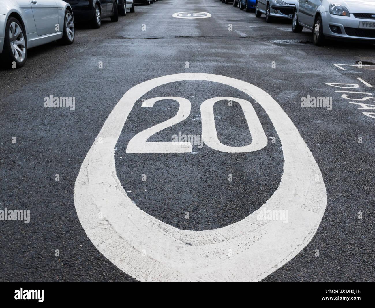 Limitation de vitesse de 20 mph Photo Stock