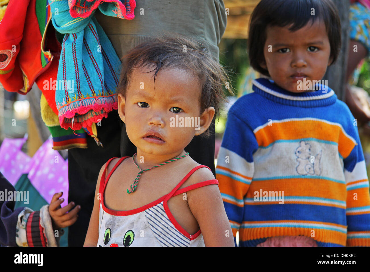 Enfant vietnamien de hauts plateaux du centre Vietnam Photo Stock