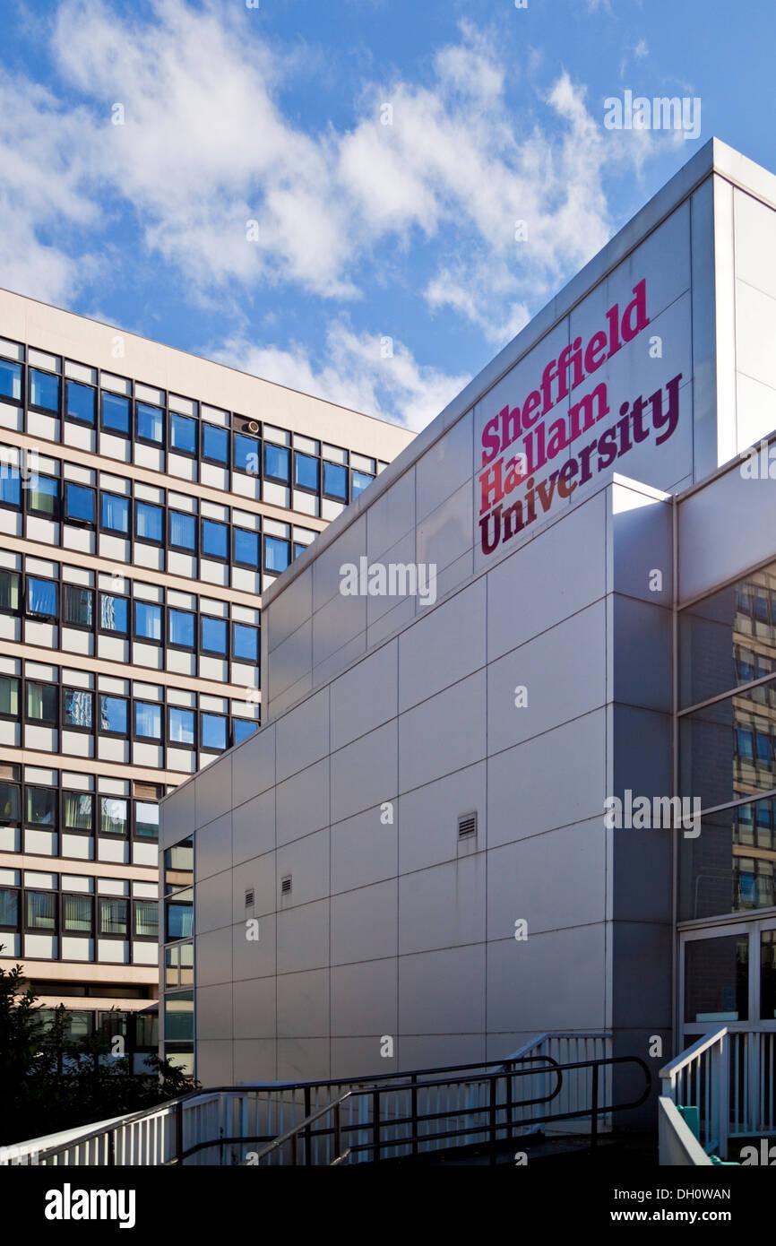 Sheffield Hallam University South Yorkshire, UK Banque D'Images