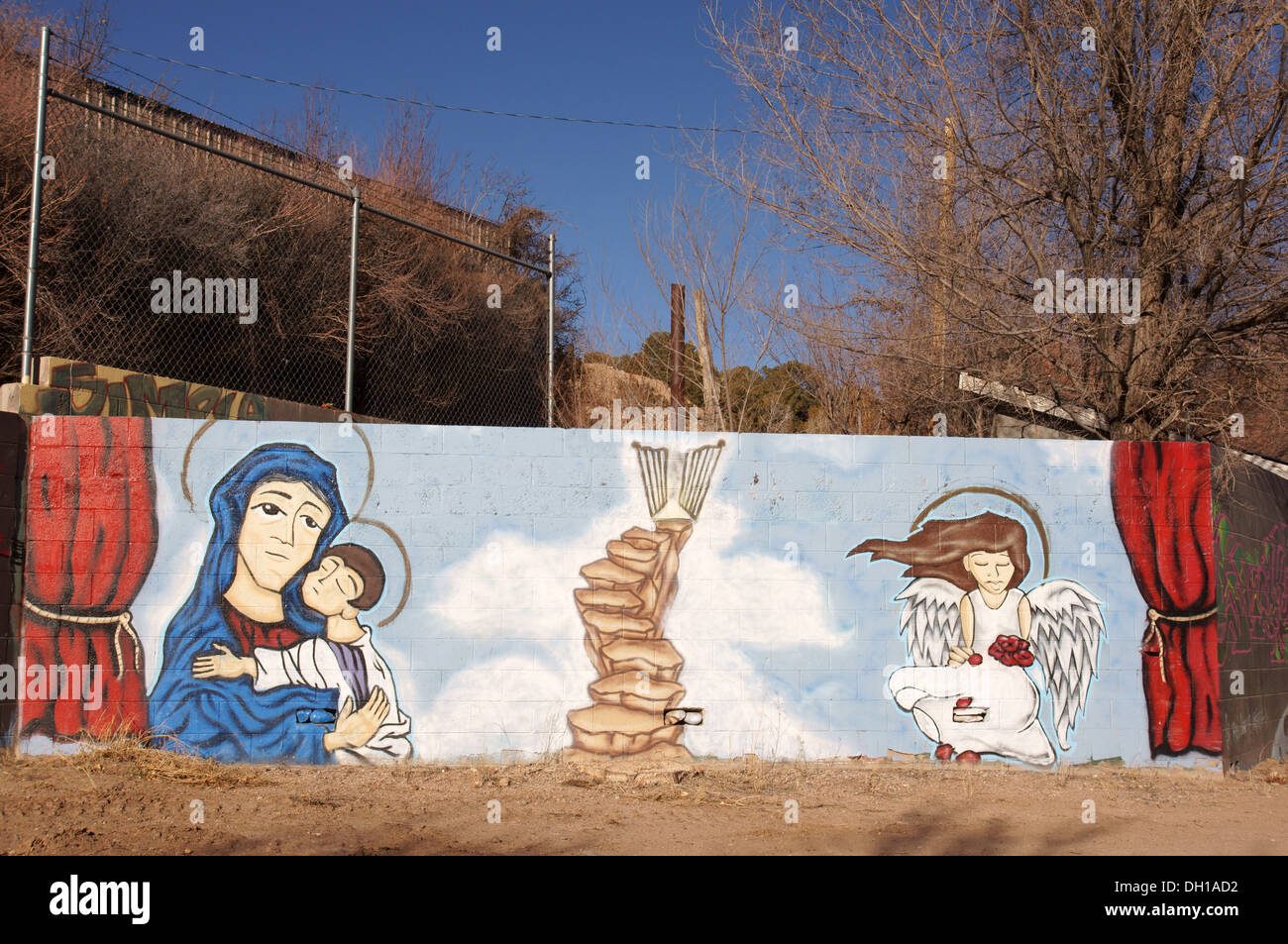 L'art mural ojito llano new mexico nm art artisanat artisanat aptitude expertise créativité imagination Photo Stock