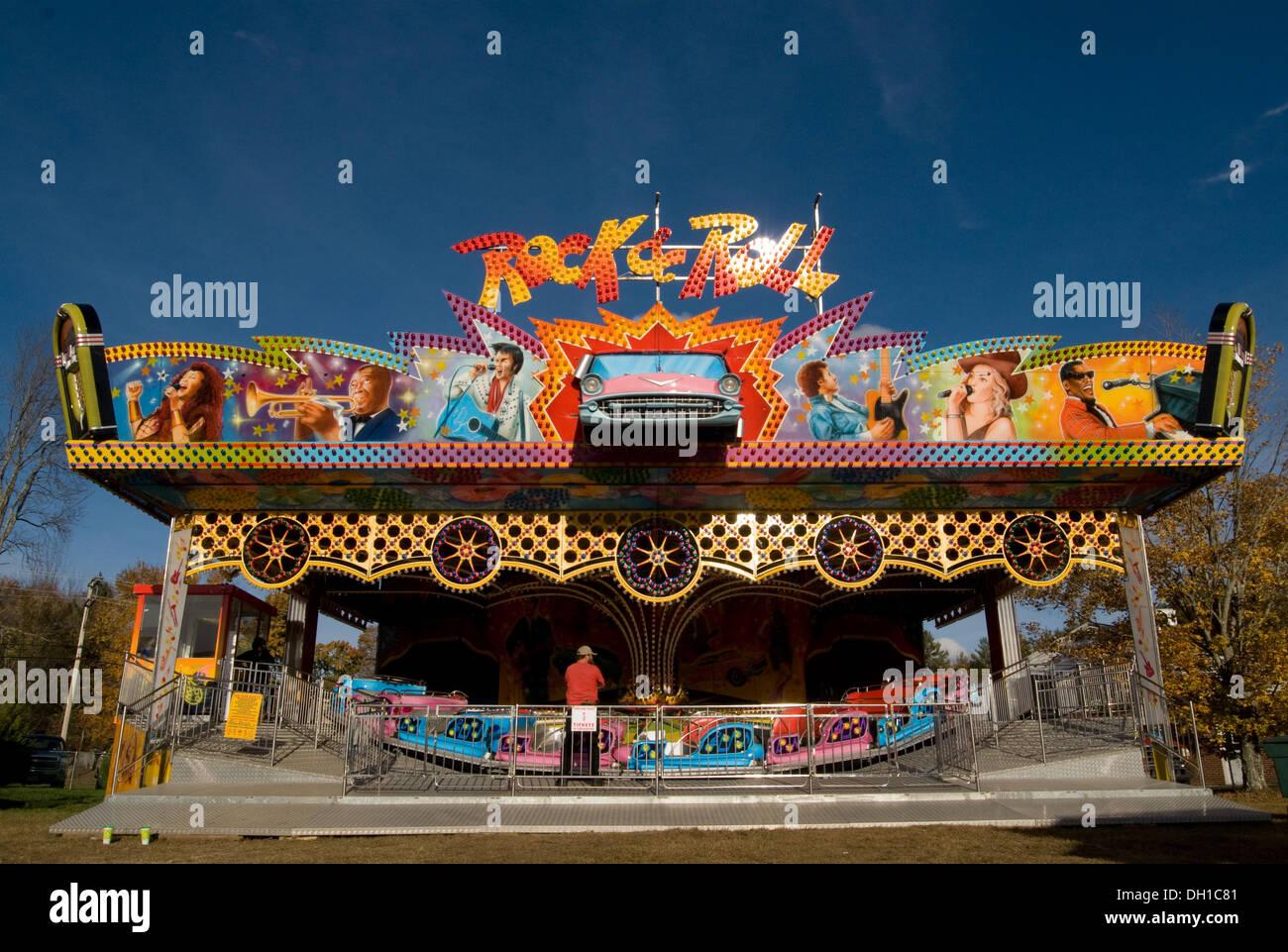 Rock 'n' Roll Roller Coaster Banque D'Images