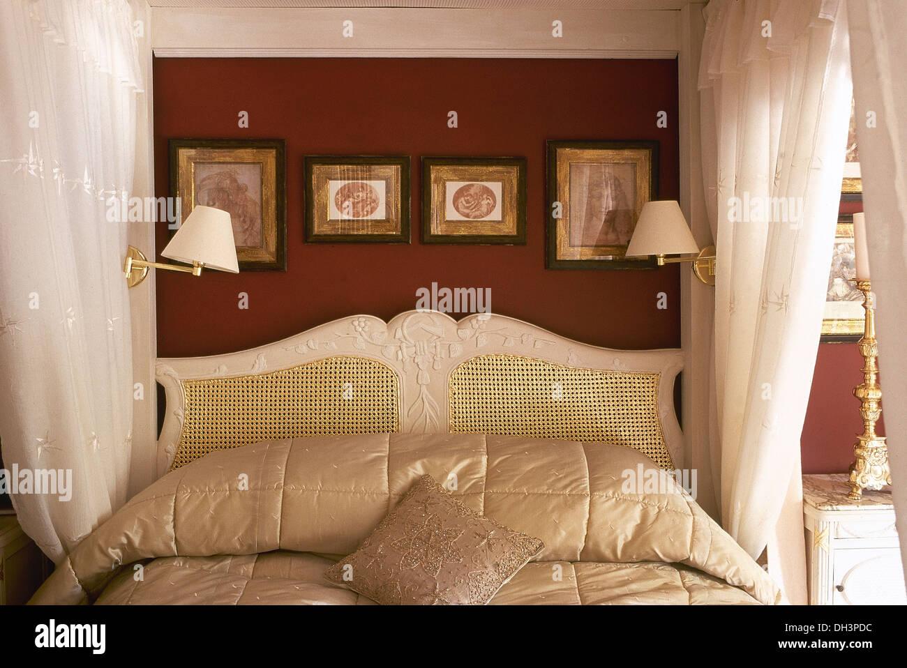 Tete De Lit Voile petites images et appliques au-dessus de lit à baldaquin