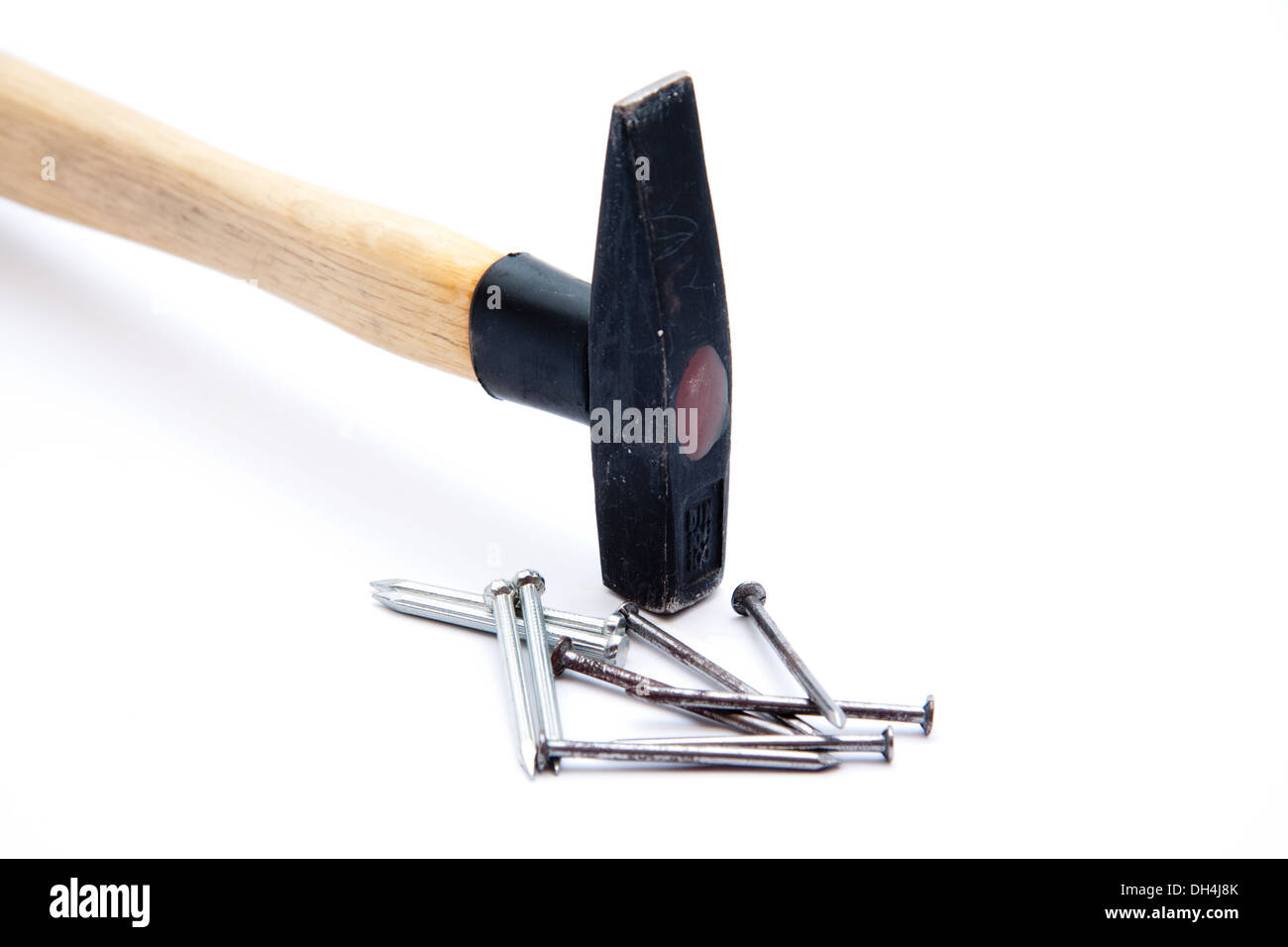 Hammer and nails Photo Stock