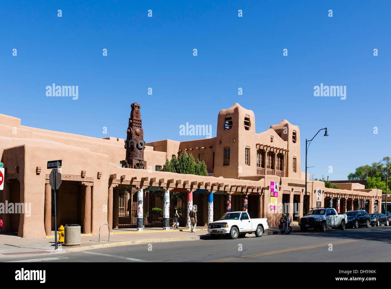 Santa Fe Museum of Contemporary Arts autochtones, Place de la Cathédrale, Santa Fe, New Mexico, USA Banque D'Images