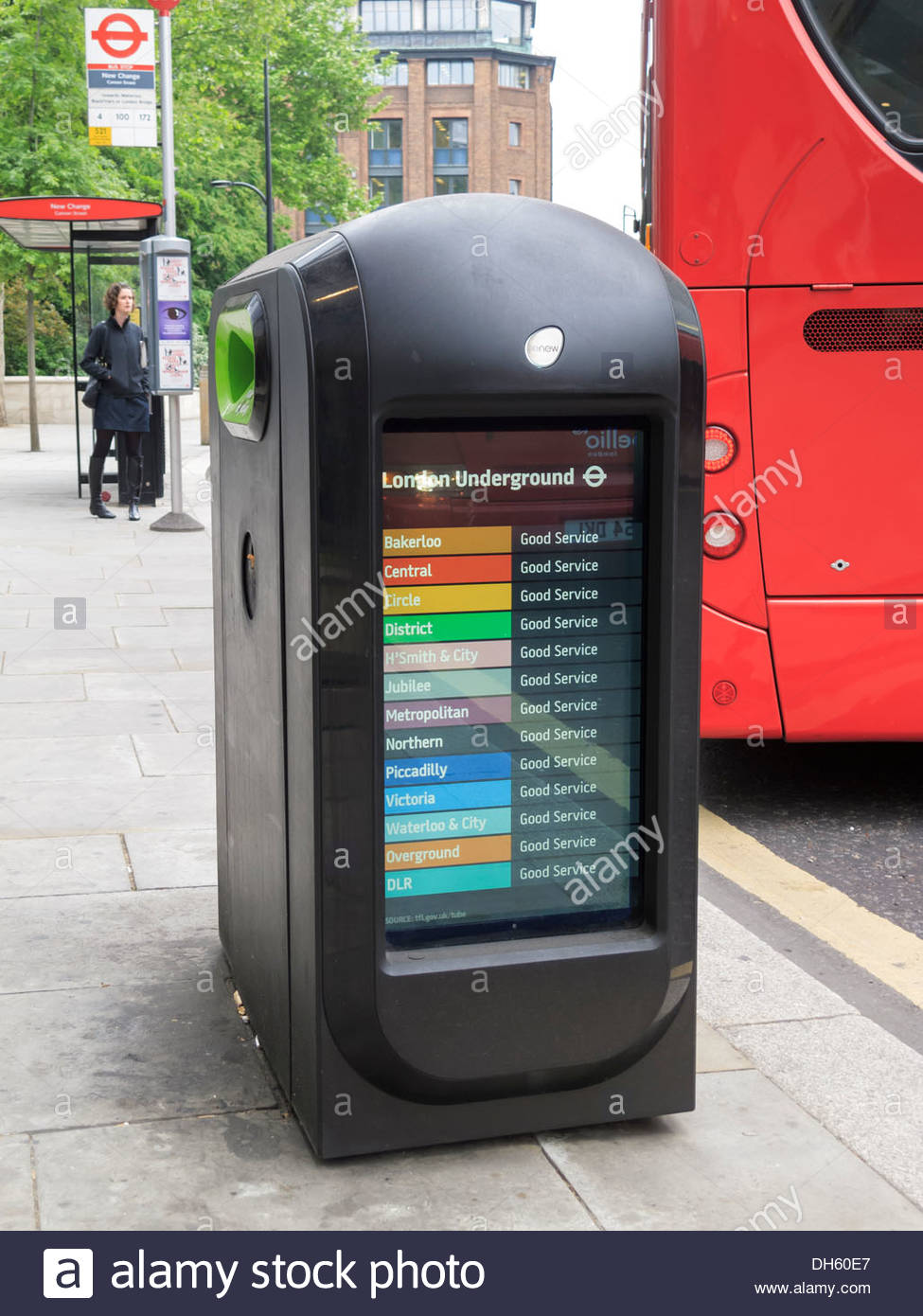 Publicité Corbeille Street London England Photo Stock