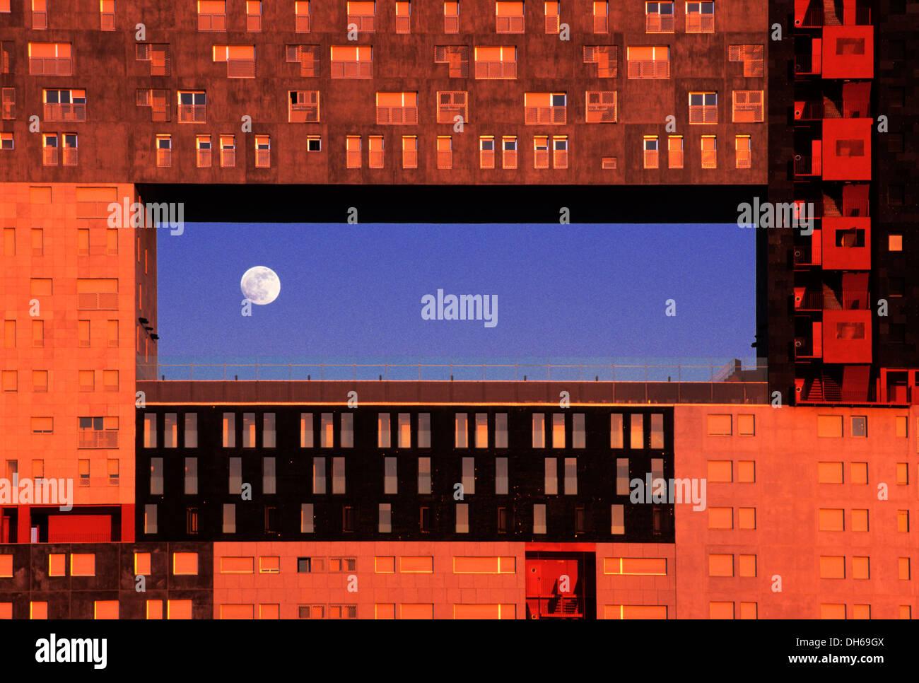 Bâtiment résidentiel Mirador, la culture de la congestion par les architectes néerlandais MVRDV, Barrio Sanchinarro, Banque D'Images