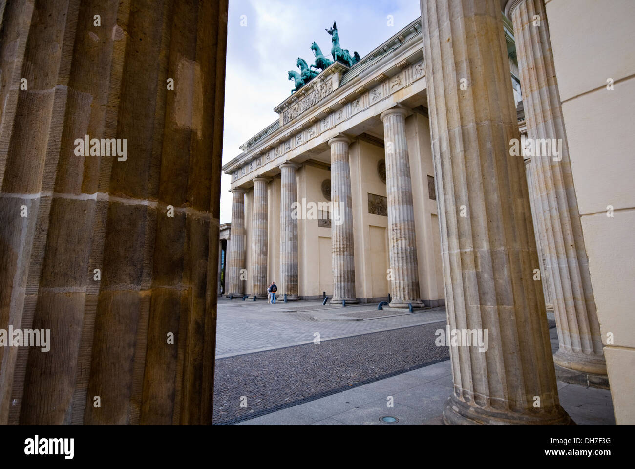 La porte de Brandebourg à Berlin, Allemagne Photo Stock