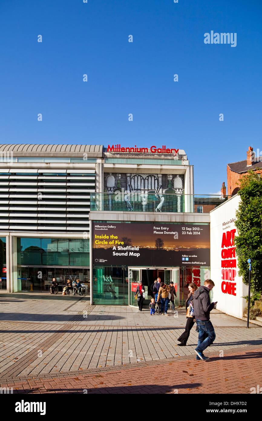 Les objectifs du Millénaire pour Gallery Sheffield South Yorkshire, UK Banque D'Images