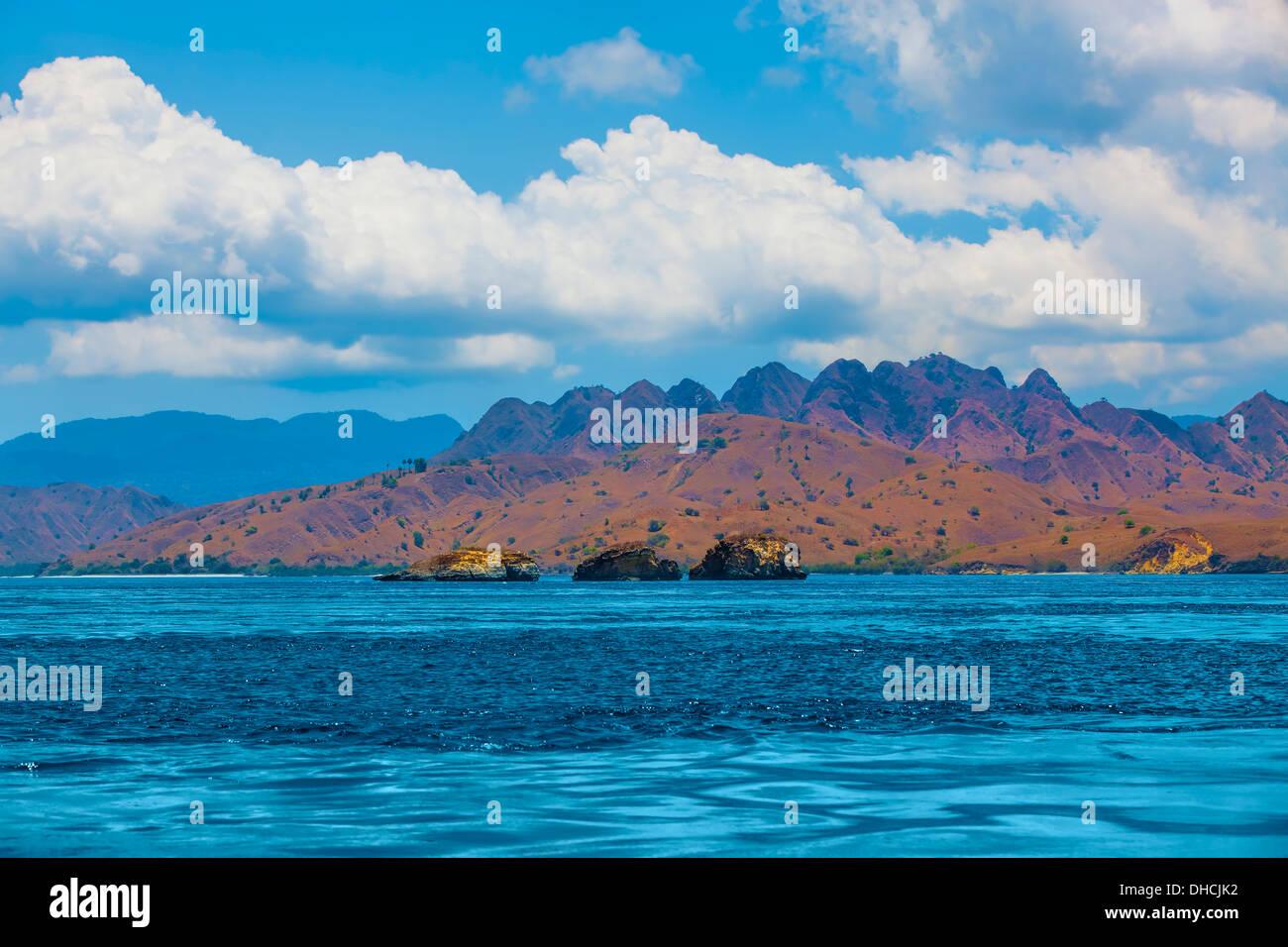 L'île de Komodo Photo Stock