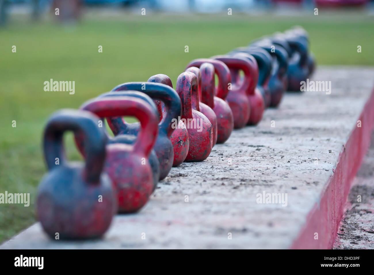 Pour la formation de poids kettlebell Photo Stock