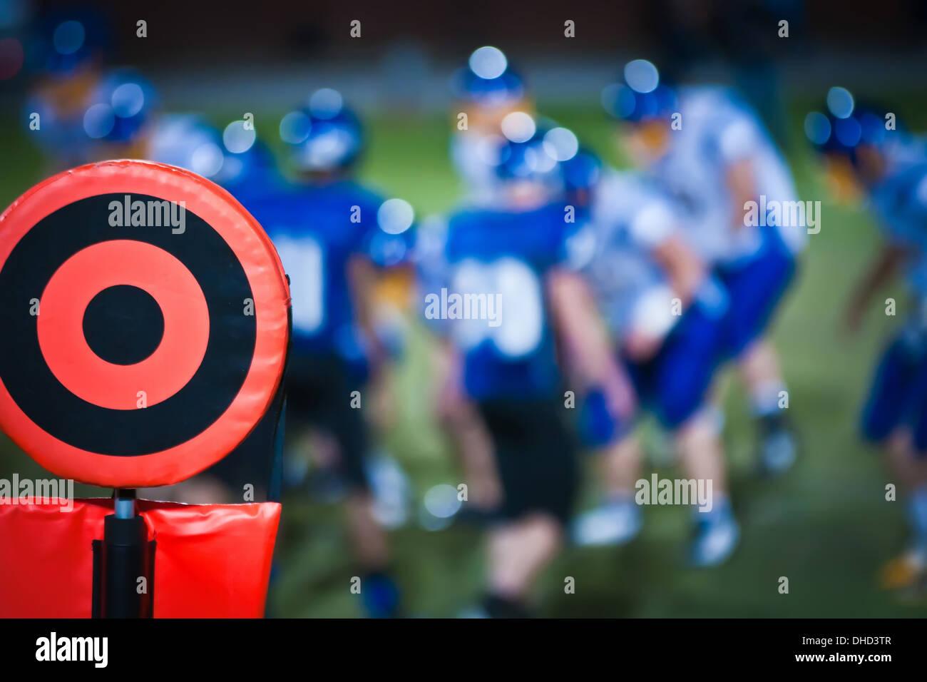 Marqueur de touche de football Photo Stock