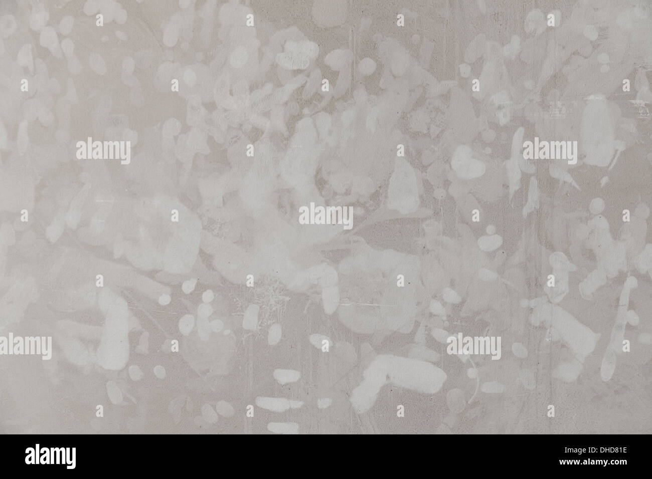 Les empreintes digitales sur le mur. Photo Stock