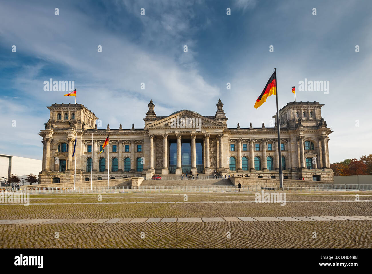Le Reichstag à Berlin Photo Stock