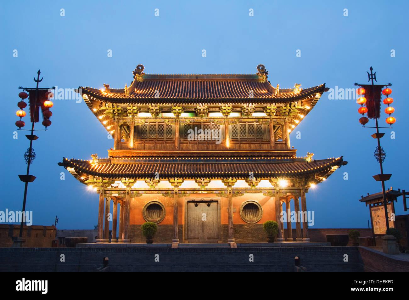 La tour de la porte sur le dernier mur de la ville intacte Dynastie Ming en Chine, Chengdu City, l'UNESCO, la province de Shanxi, Chine Photo Stock