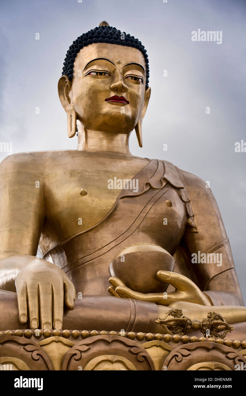 Le Bhoutan, Thimphu, Statue du Grand Bouddha Sakyamuni, Dordenma gigantesque figure bouddhiste Photo Stock