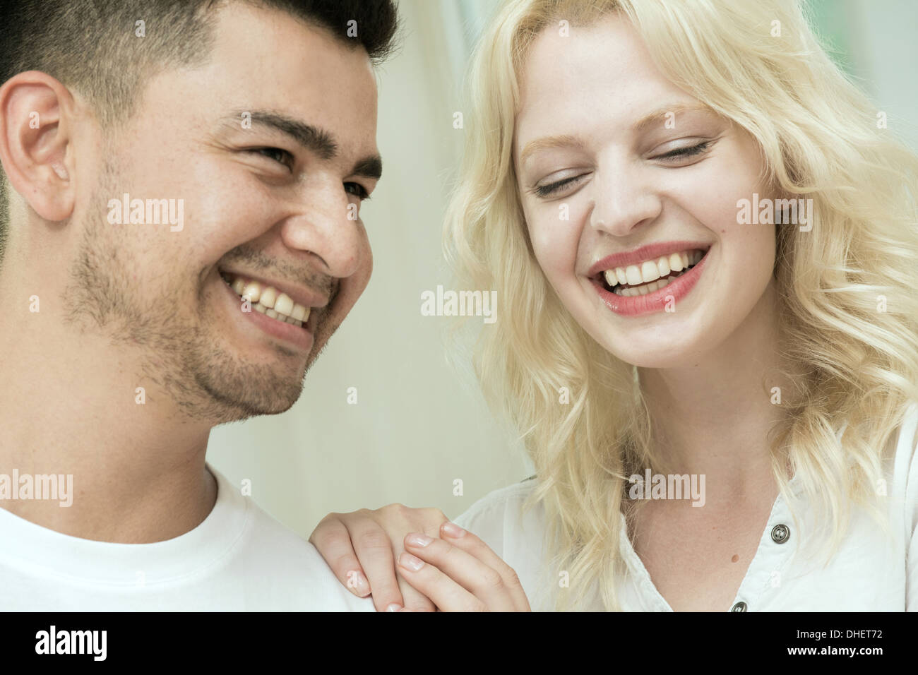 Young couple laughing Photo Stock