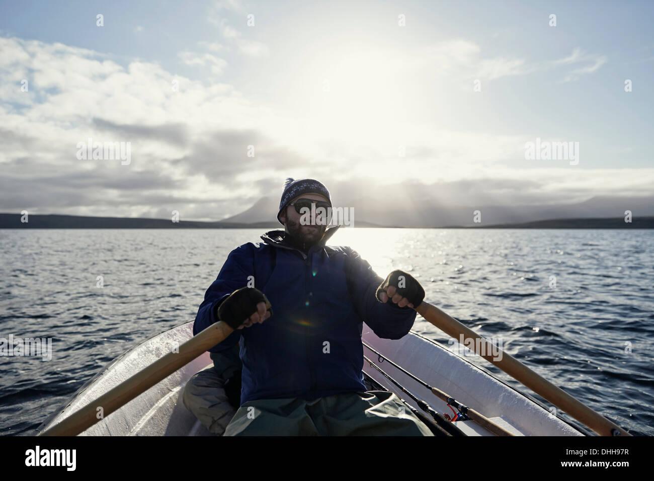 Voyage de pêche sur l'homme Photo Stock