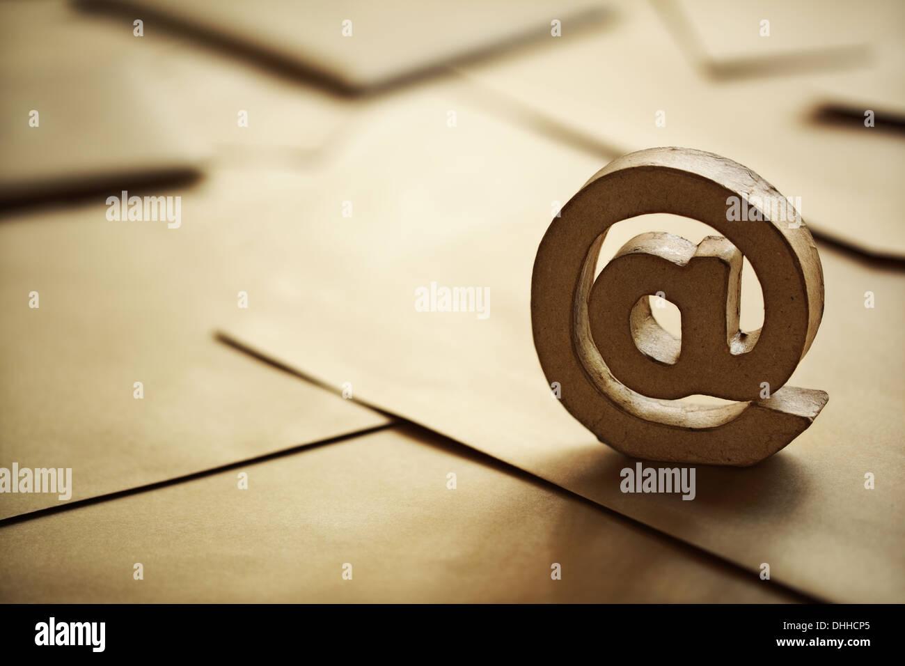 Courriel @ symbole Photo Stock