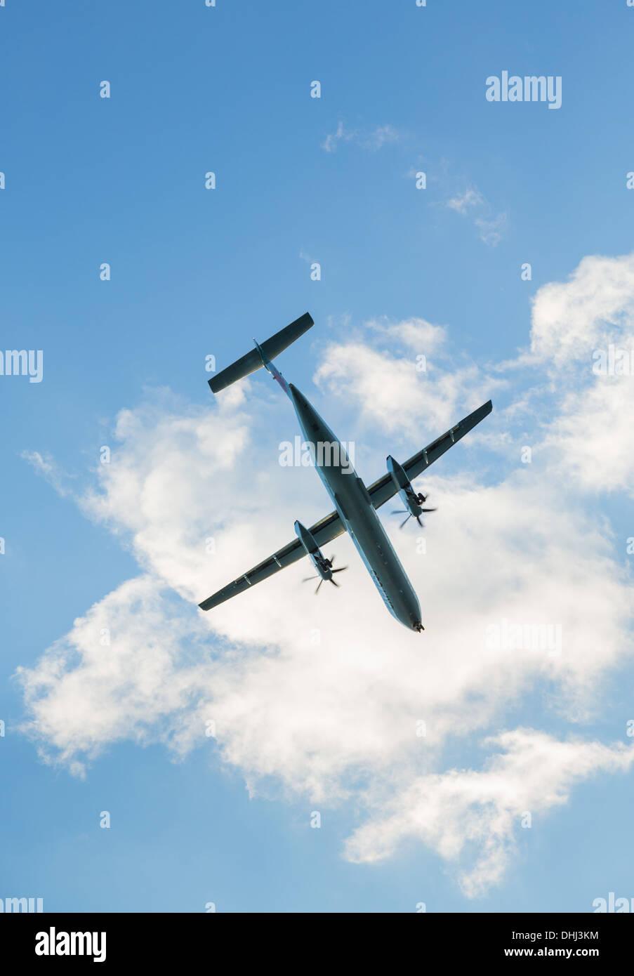 Avion / avion turbopropulseur Photo Stock