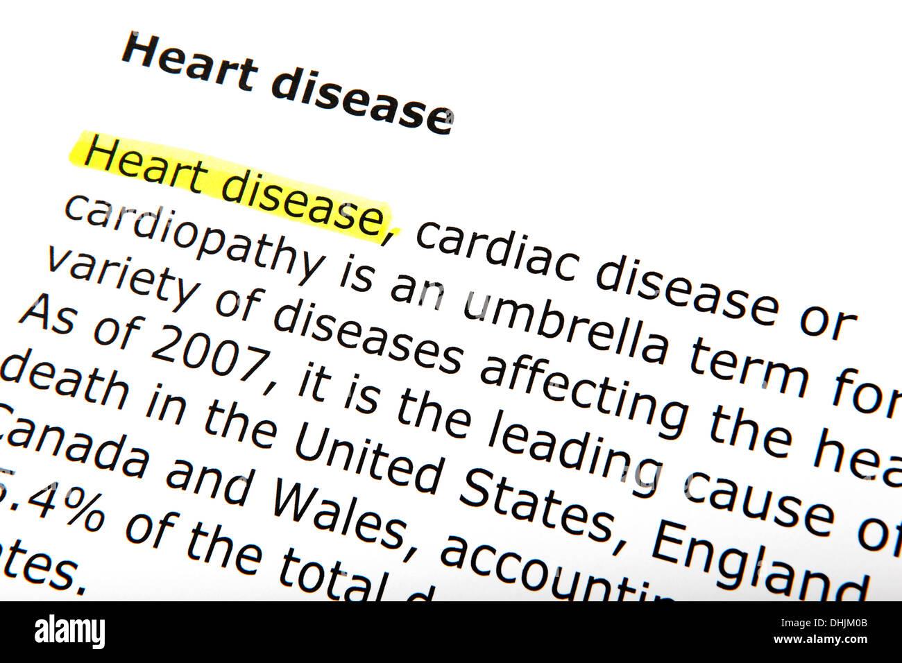 maladies du cœur Photo Stock