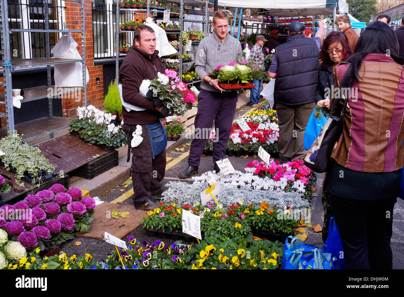 Columbia Road Flower Market, East London, UK Photo Stock