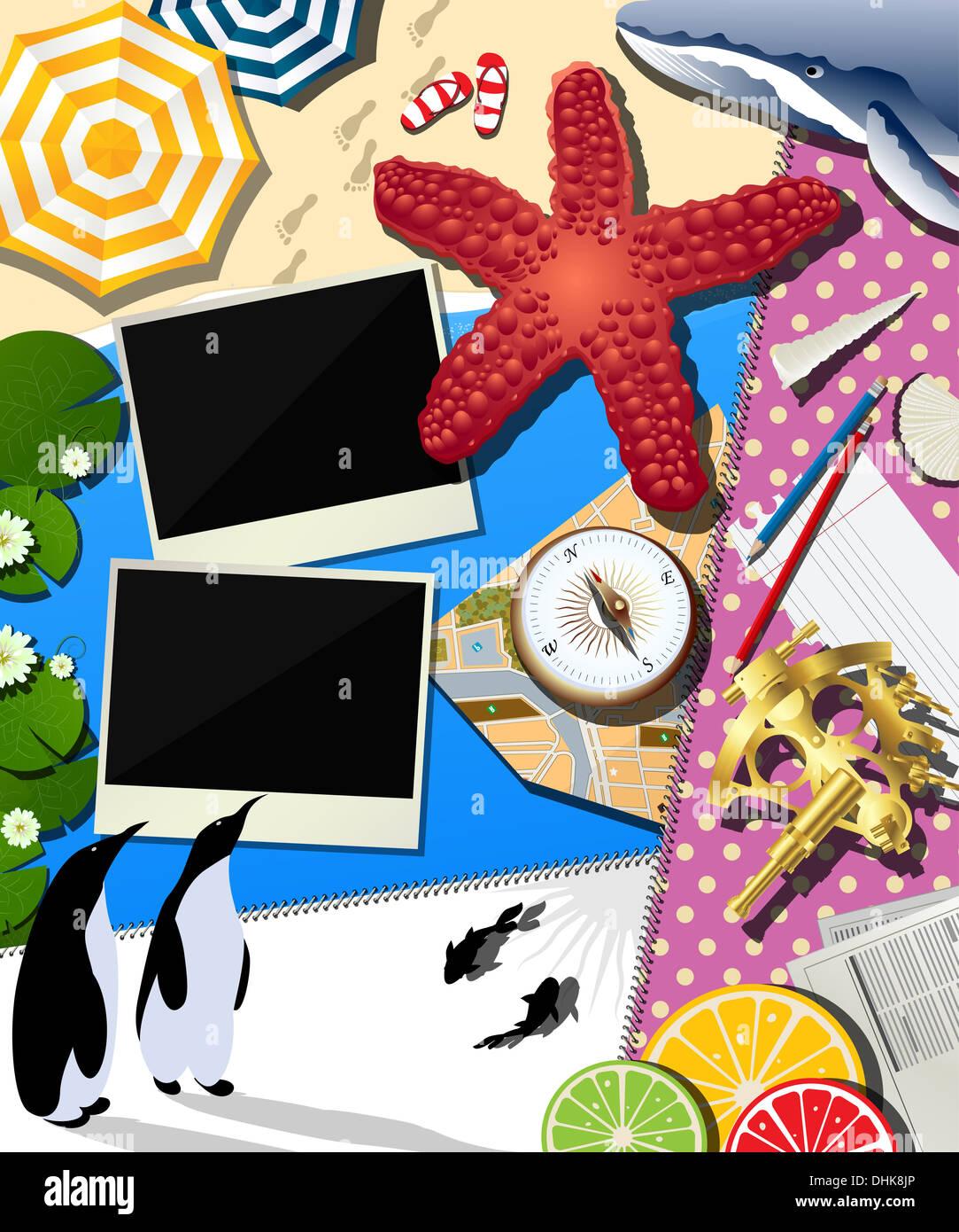 Album de vacances Photo Stock