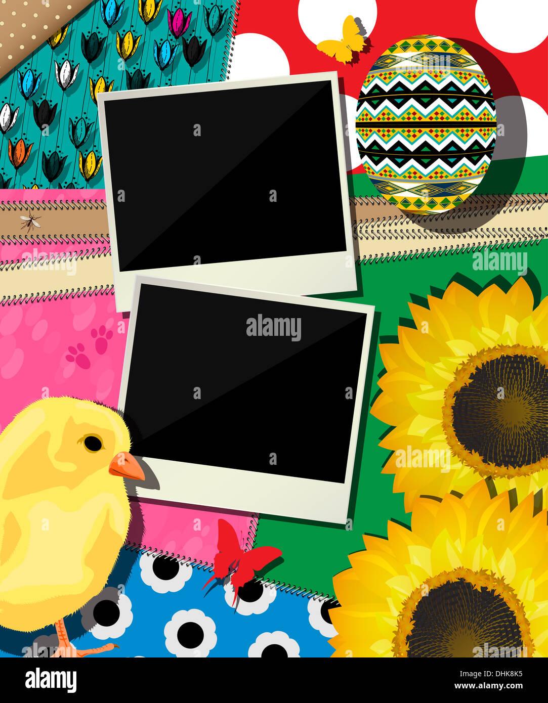 Arrière-plan de Pâques, la conception d'album Photo Stock