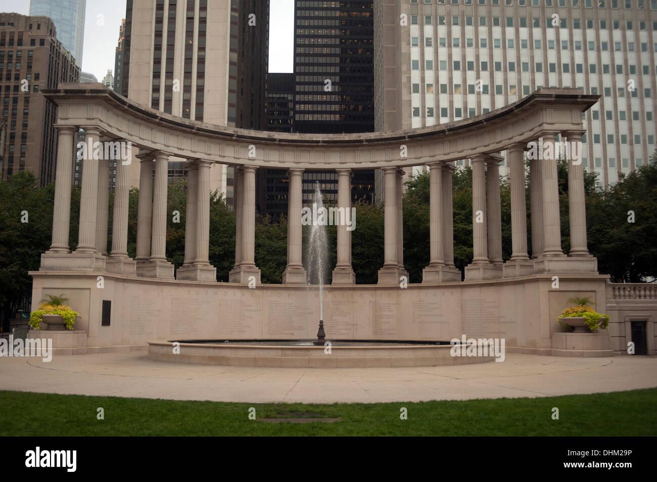Monument du millénaire, le Millennium Park, Chicago, Illinois, États-Unis Photo Stock