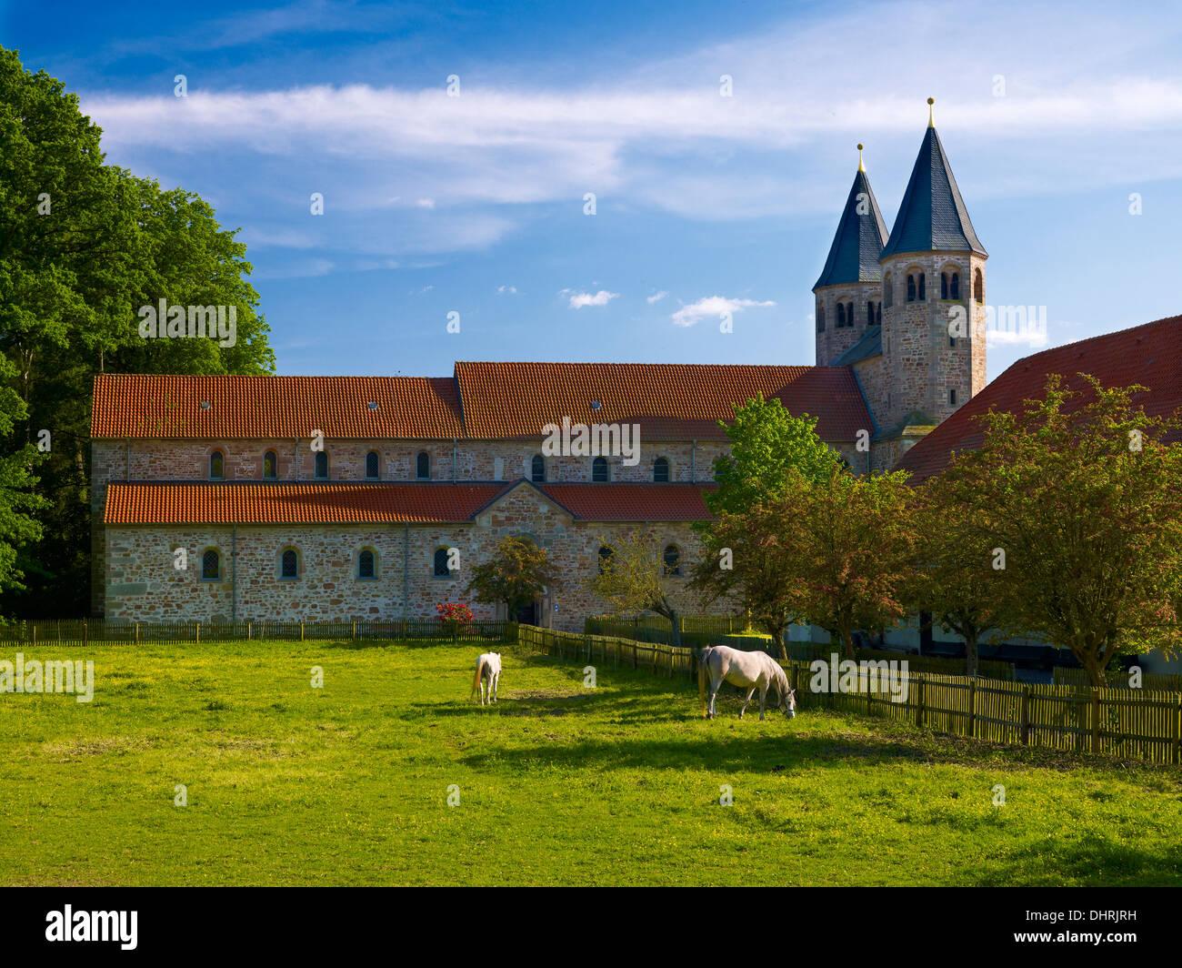 Monastère bénédictin, Bursfelde, Hann.Münden, Allemagne Photo Stock
