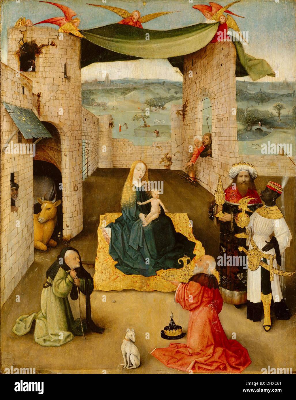 L'Adoration des Mages - de Jérôme Bosch, 1475 Photo Stock