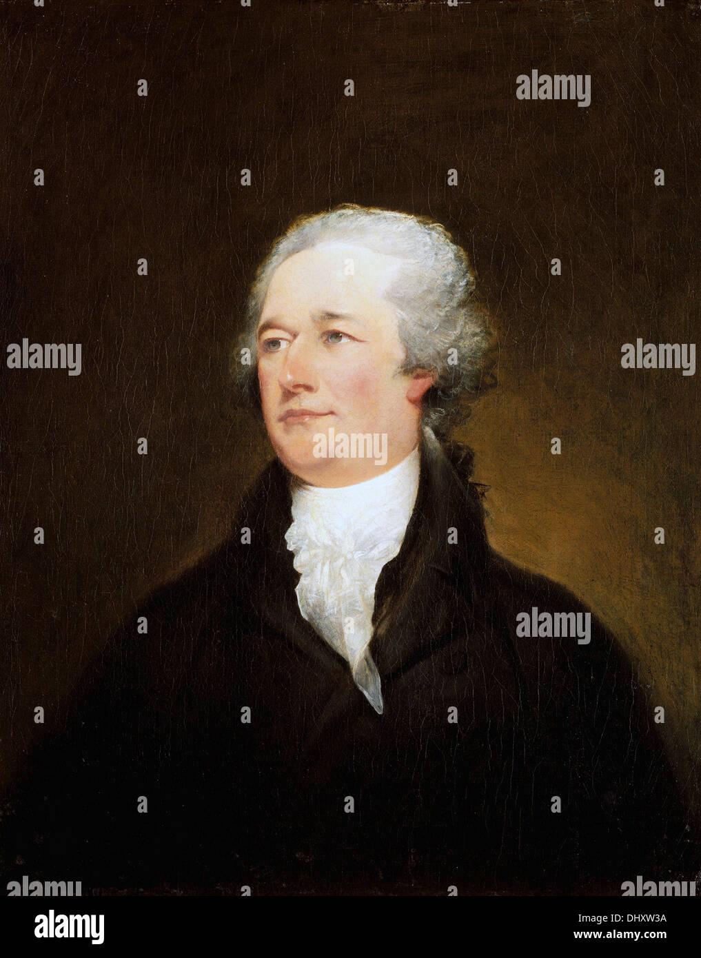 Alexander Hamilton - par John Trumbull, 1806 Photo Stock