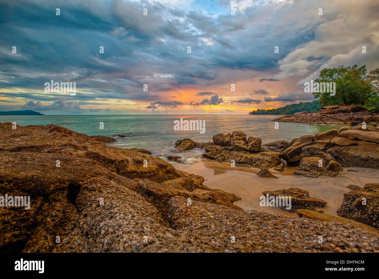 Coucher de soleil de Langkawi Photo Stock