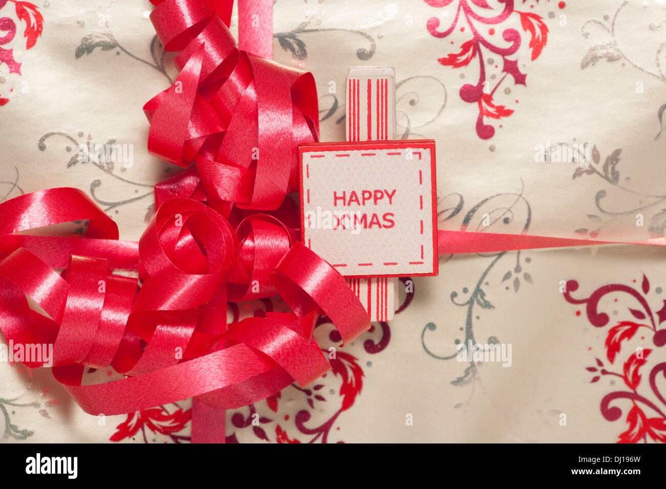 Papier d'emballage cadeau de Noël Résumé Contexte Photo Stock