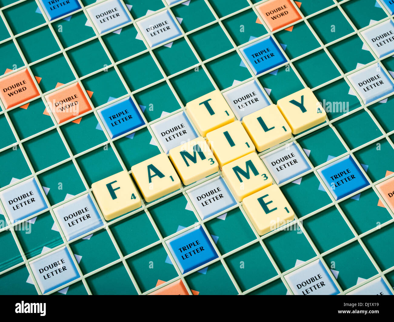 Jeu de mot Scrabble de Mattel / Hasbro Banque D'Images
