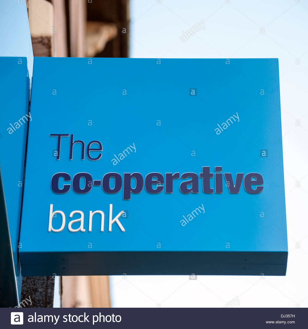 Co-operative Bank sign in Hereford, Royaume-Uni. Photo Stock