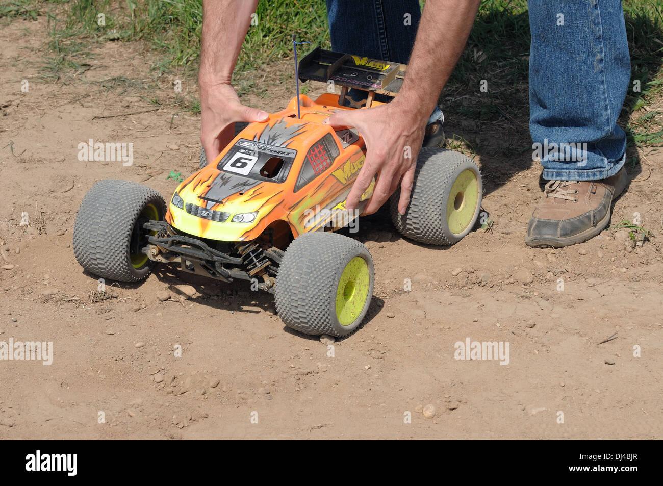 Modèle avec amour car racing Photo Stock