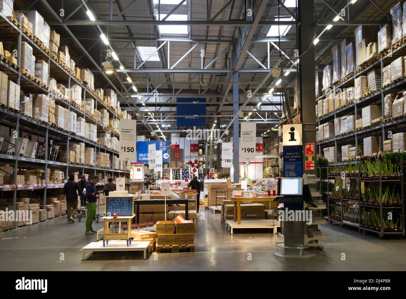 Collection Ikea Self-Service Isles - Edmonton - Londres Photo Stock
