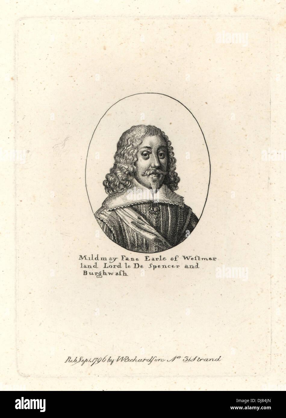 Fane Mildmay, comte de Westmoreland, est mort 1665. Banque D'Images