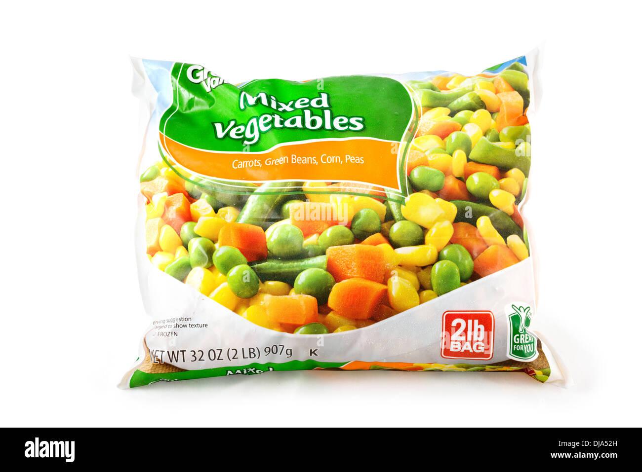 Pack mixte de légumes congelés, USA Photo Stock