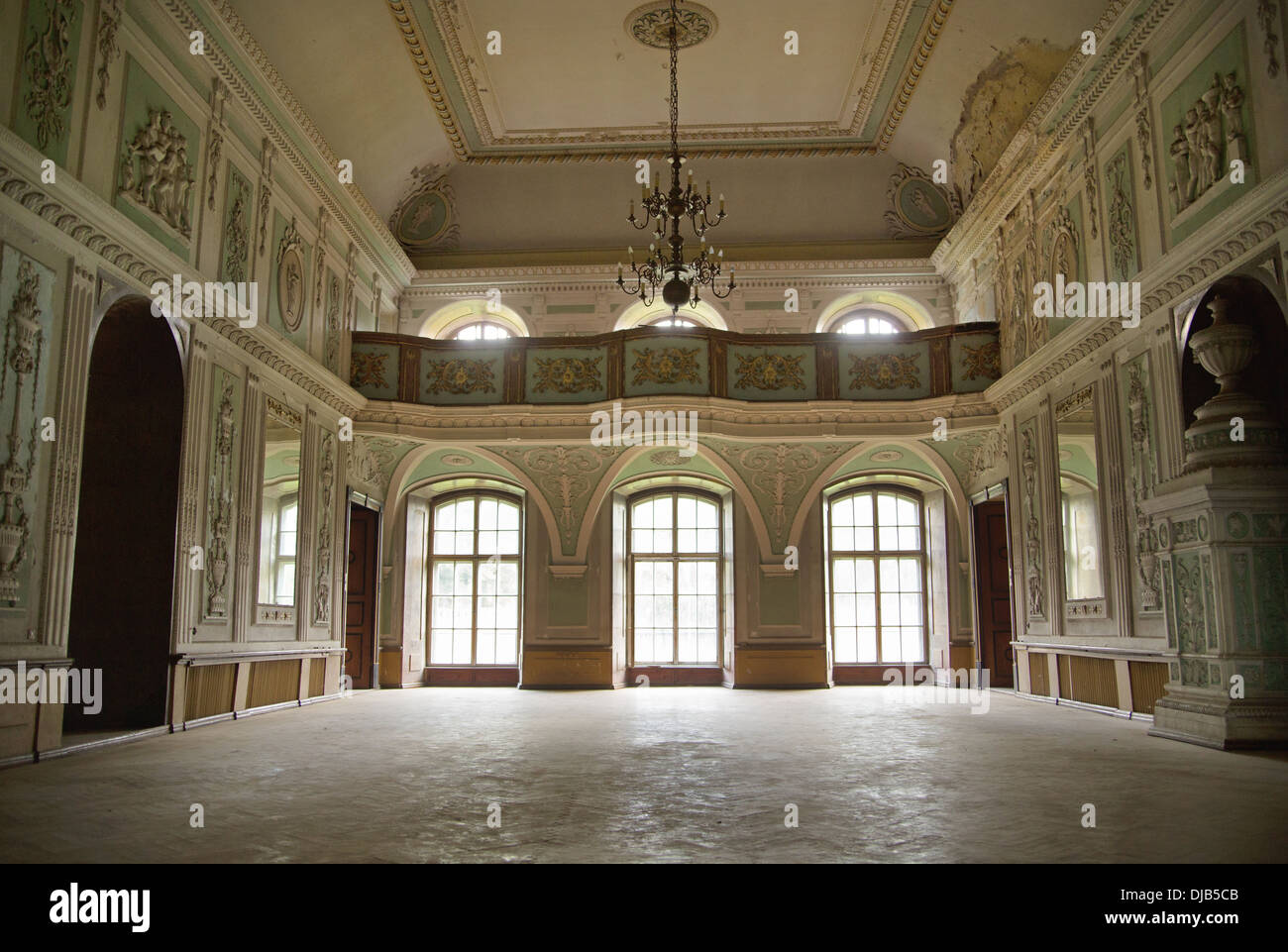 Photo présentant l'intérieur de l'ancien palais Photo Stock