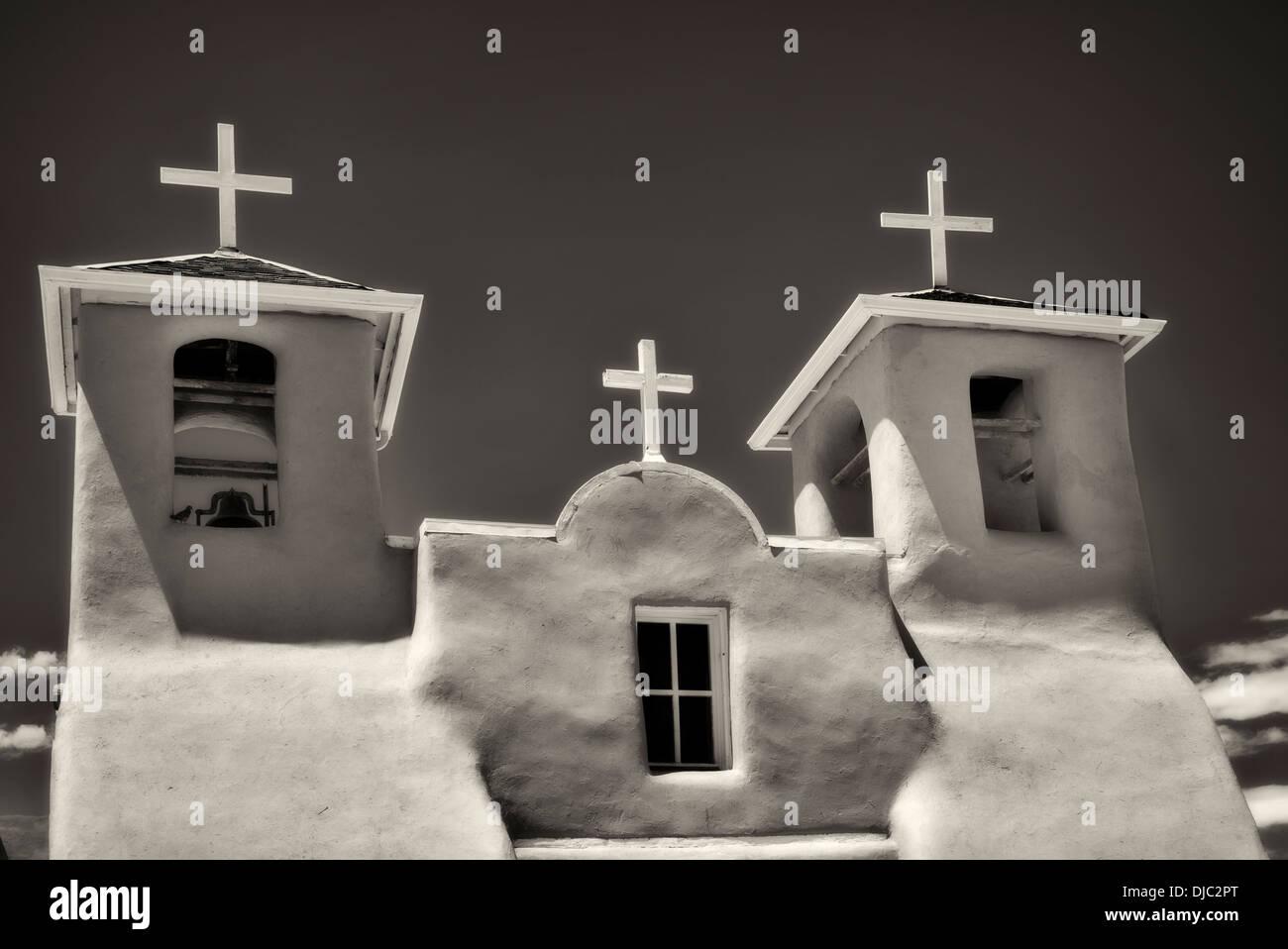 San Francisco de Asis Église catholique. Taos Nouveau Mexique Photo Stock