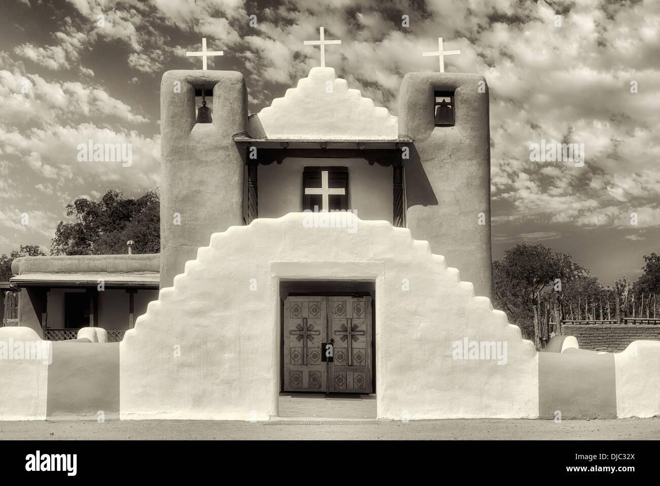 Dans l'église San Geronimo de Taos Pueblo. Taos, Nouveau Mexique. Photo Stock