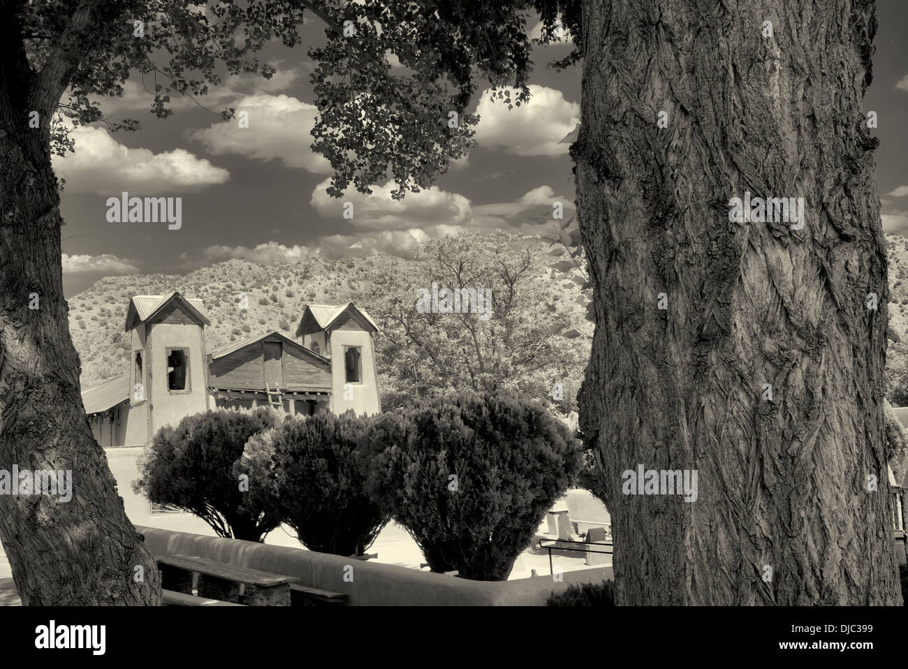 Santuario de Chimayó église. Chimayo, Nouveau Mexique Photo Stock