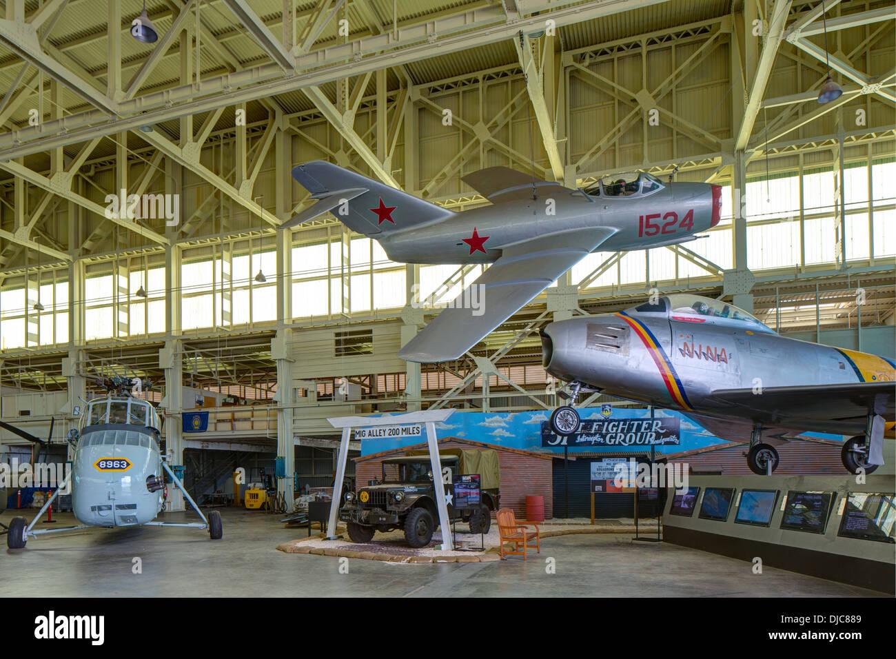Pacific Aviation Museum Pearl Harbor, l'île de Ford, Honolulu, Oahu, Hawaii Photo Stock