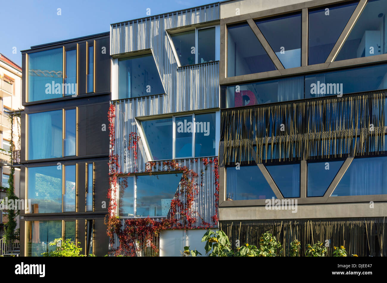 L'architecture moderne, Prenzlauer Berg, Berlin Photo Stock
