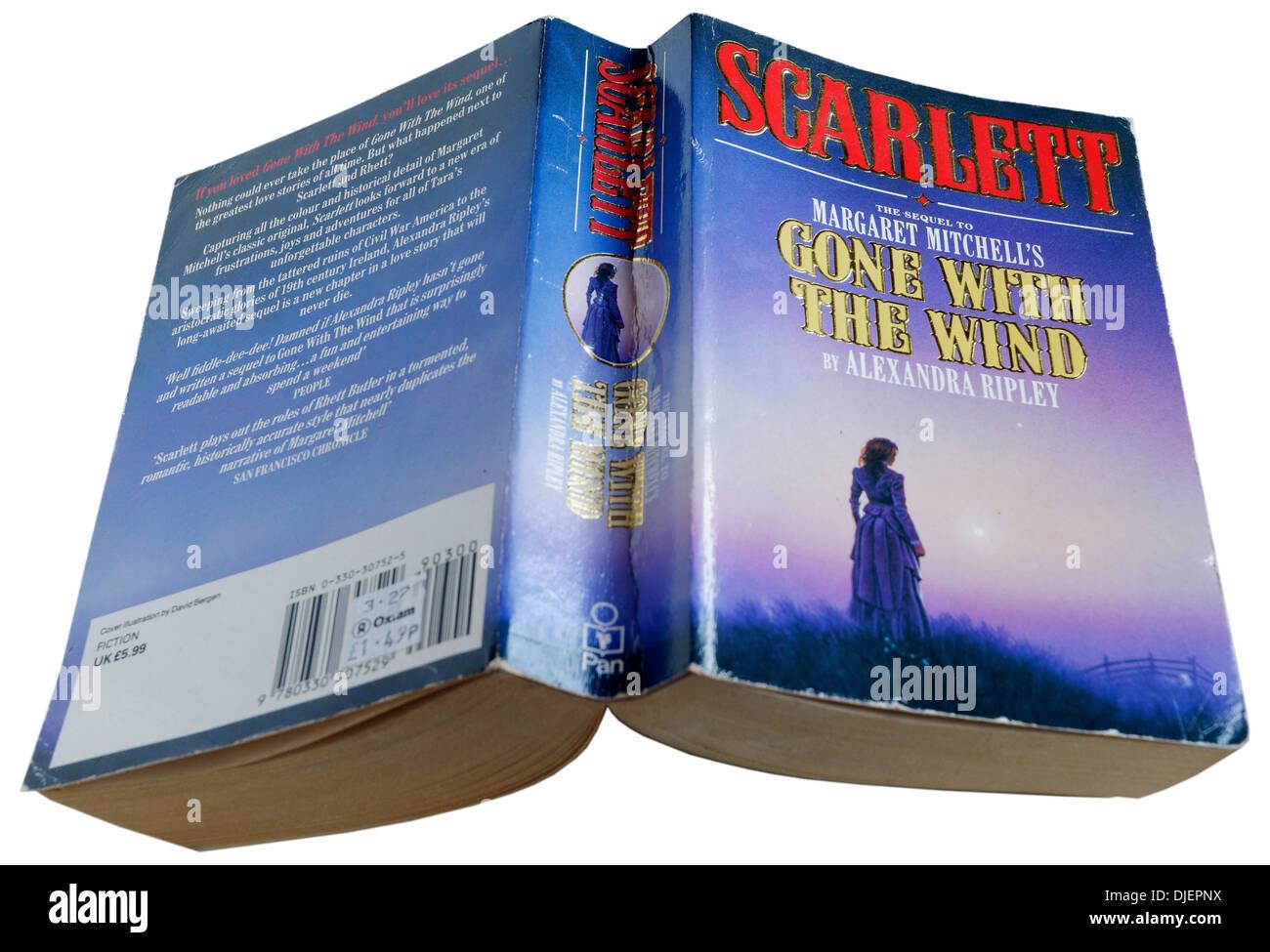 Scarlett par Alexandra Ripley, la suite de Autant en emporte le vent Photo Stock