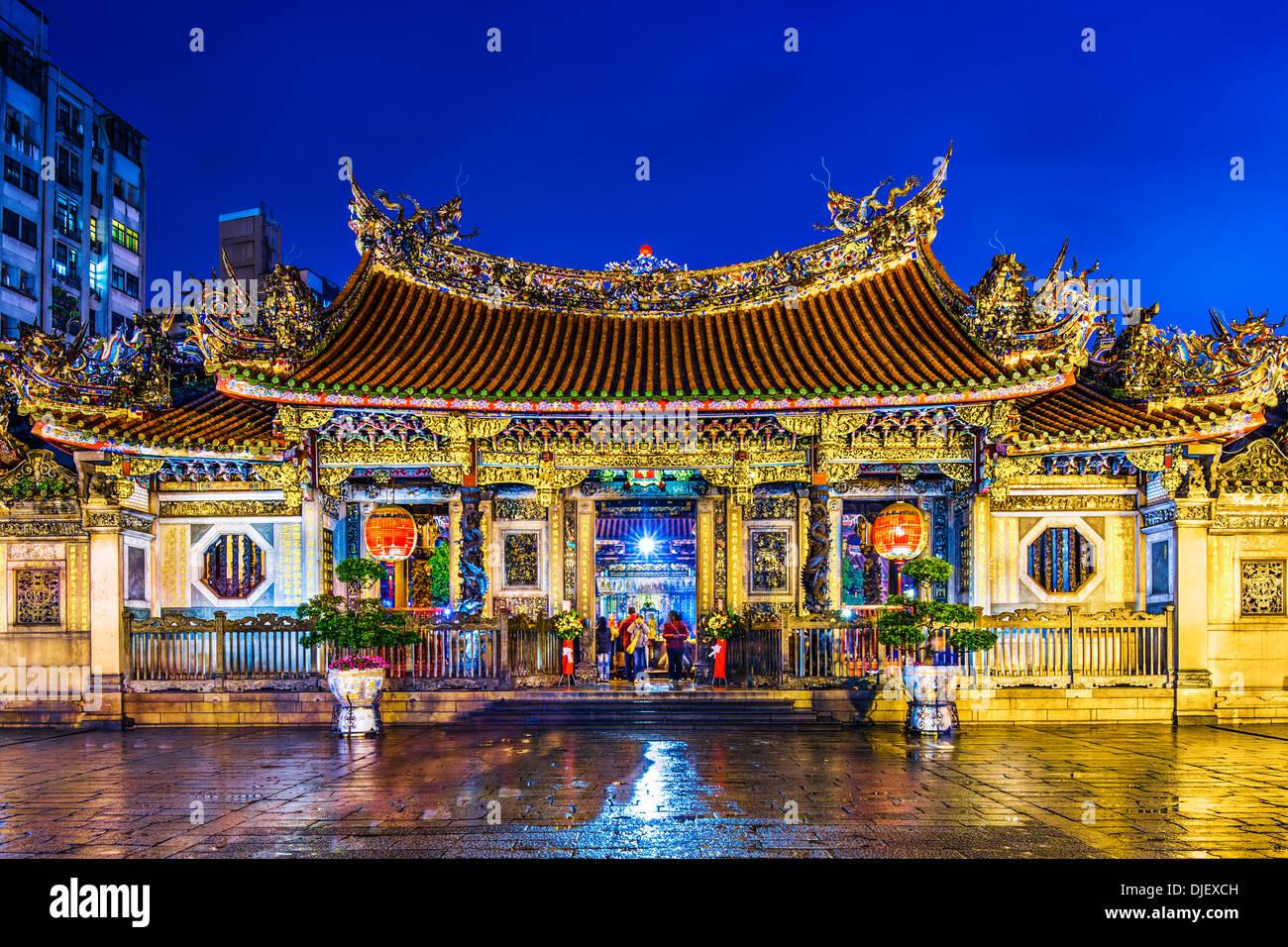 Temple de Longshan à Taipei, Taiwan. Photo Stock