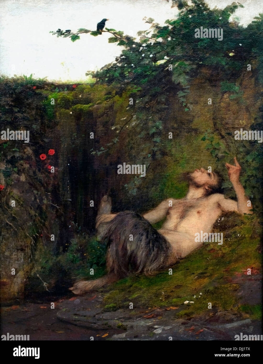 Faun et Arnold Bocklin 1866 Carouge Suisse Suisse 1827-1901 Photo Stock
