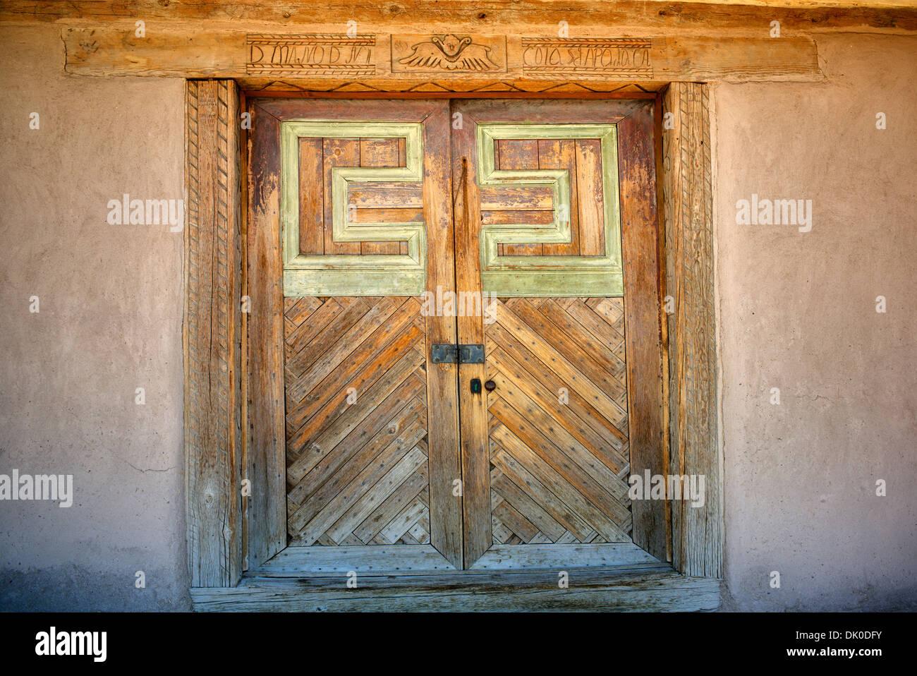 San Jose de Gracia Église catholique. Nouveau Mexique Photo Stock